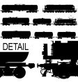 railway silhouettes set vector image vector image