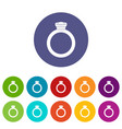 ring icons set flat vector image