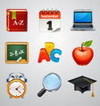 School icons-set 2 vector image