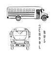 school yellow bus sketch of vector image vector image