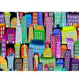 Seamless colorful cityscape vector image vector image