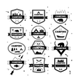 set vintage camping and outdoor activity logos vector image