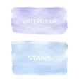 set watercolor stains vector image vector image