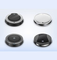 set with round robotic vacuum cleaners vector image vector image