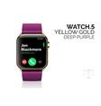 smart watch with deep purple bracelet realistic vector image