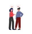 two school girls gossiping teenage puberty vector image vector image