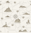 vintage seamless pattern on travel theme vector image vector image