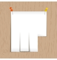 White ad pattern with pins on the board vector image vector image