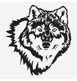 Wolf bolt Emblem vector image vector image