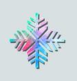 cold symbol snowflake line icon vector image