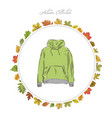 hoody hand draw clothes vector image