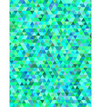 Green blue triangle mosaic background vector image