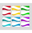 Set of Business Cards with abstract colorful waves vector image