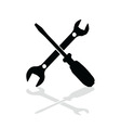 tool black and white vector image