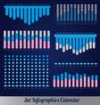 Detail infographic calendar vector image