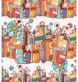 Travel Bags and Suitcases Hand Drawn vector image