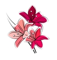 Stylized red lily isolated vector image