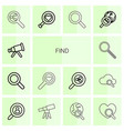 14 find icons vector image vector image