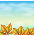 A blue sky and the leafy plants vector image vector image