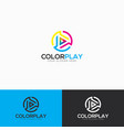 abstract color play logo template vector image