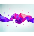 abstract colorful purple faceted crystal vector image vector image