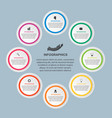 abstract infographic for business presentations vector image vector image