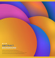 abstract of colorful fluid in circle geometric vector image vector image