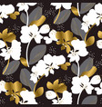 abstract orchid blossom seamless pattern vector image