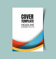 abstract report cover 29 vector image vector image