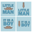 baby shower boy - little man invitation template vector image