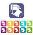 baby socks icons set vector image vector image