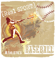 baseball batter up vector image vector image