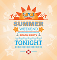 Beach Party Banner vector image vector image