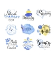 Beauty And Spa Promo Signs Colorful Set vector image vector image