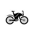 bicycle icon in flat style vector image