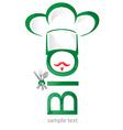 Bio symbol restaurant icon vector image vector image