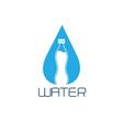 bottle water design concept vector image