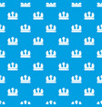 bronze crown pattern seamless blue vector image vector image