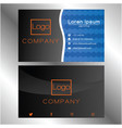 business card on dark and blue 0004 vector image vector image