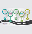 business infographic navigation map road design vector image vector image