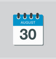 calendar icon day 30 august date days year
