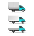 Cargo truck pickup and tent vector image vector image