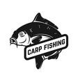 carp fishing emblem template with carp fish vector image vector image