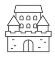 castle thin line icon architecture and fort vector image vector image
