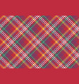 check colored diagonal plaid madras seamless vector image vector image