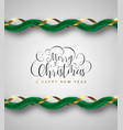 christmas and new year luxury gold garland vector image vector image