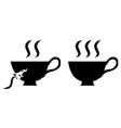 coffee bad cup symbol vector image vector image