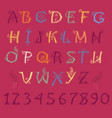 colorful floral alphabet vector image vector image