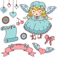 cute design elements vector image vector image