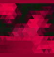 dark red triangle mosaic template glitter vector image